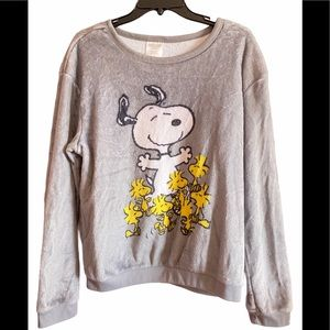 Peanuts Snoopy and Woodstock Pullover